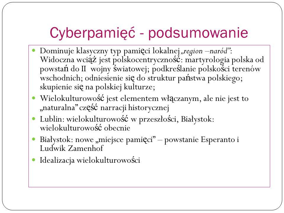 Cyberpamięć - podsumowanie