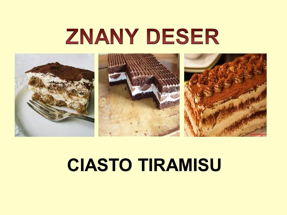 ZNANY DESER CIASTO TIRAMISU