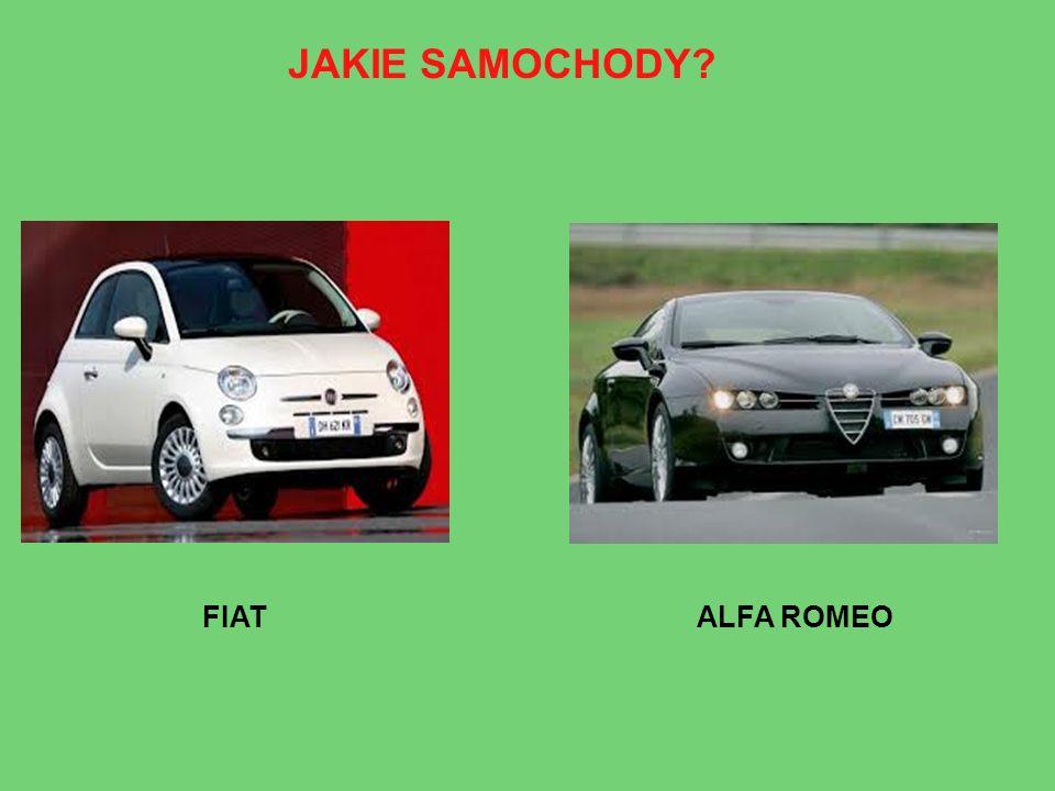 JAKIE SAMOCHODY FIAT ALFA ROMEO