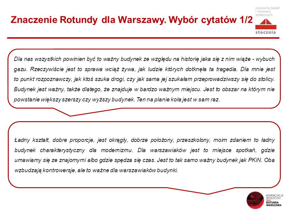 Znaczenie Rotundy dla Warszawy. Wybór cytatów 1/2