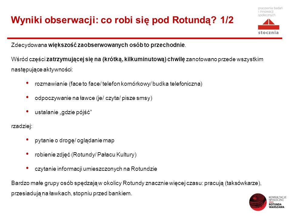 Wyniki obserwacji: co robi się pod Rotundą 1/2