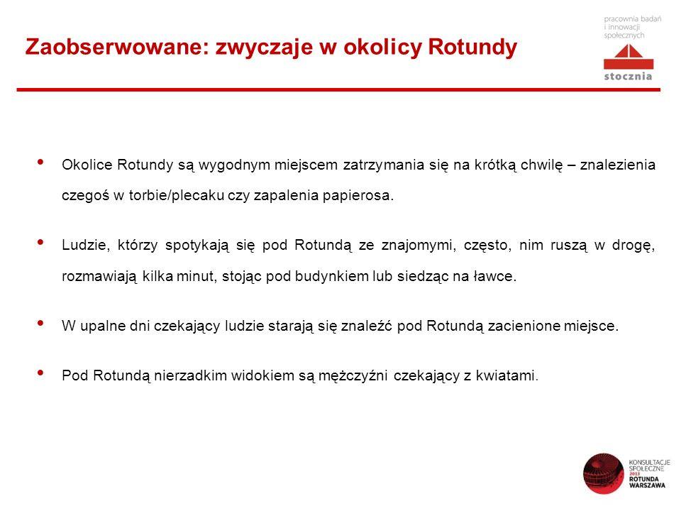 Zaobserwowane: zwyczaje w okolicy Rotundy