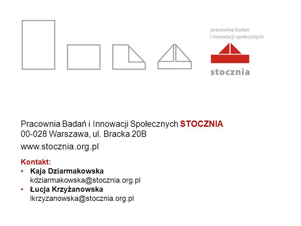 Pracownia Badań i Innowacji Społecznych STOCZNIA 00-028 Warszawa, ul