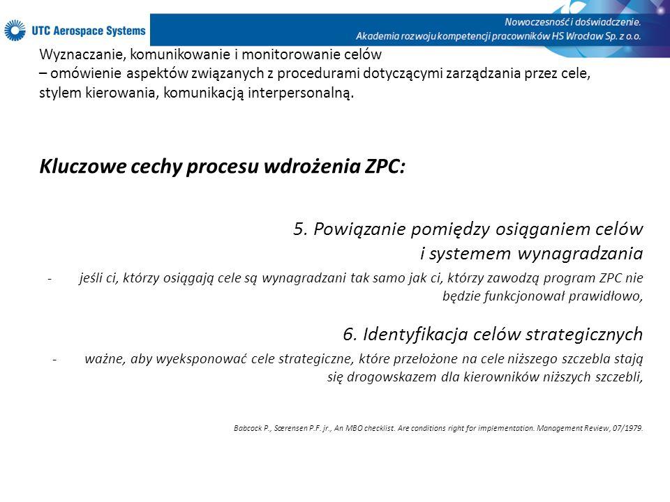 Kluczowe cechy procesu wdrożenia ZPC: