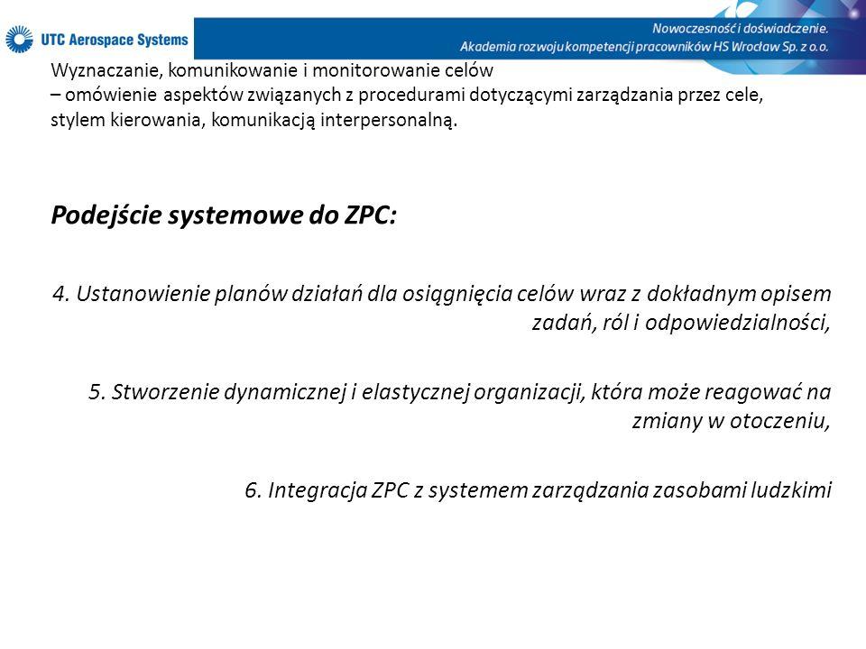 Podejście systemowe do ZPC: