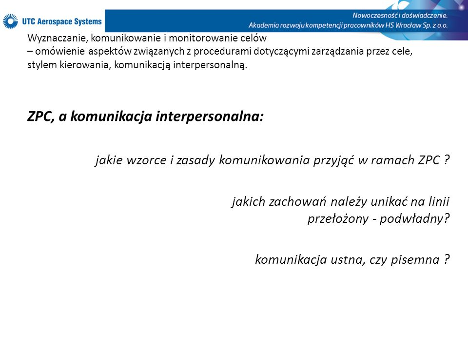 ZPC, a komunikacja interpersonalna:
