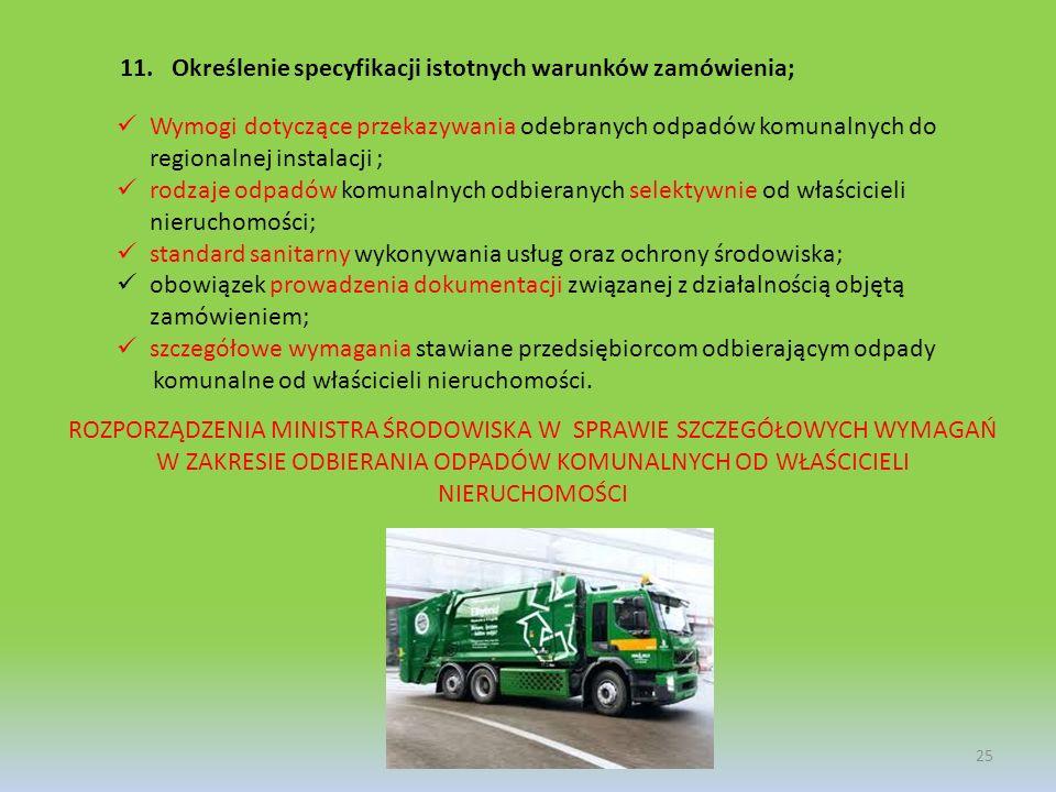 Określenie specyfikacji istotnych warunków zamówienia;