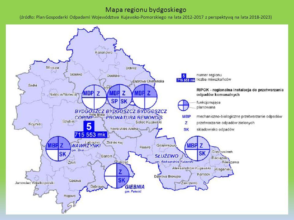 Mapa regionu bydgoskiego