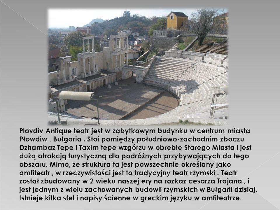 Plovdiv Antique teatr jest w zabytkowym budynku w centrum miasta Płowdiw , Bułgaria .