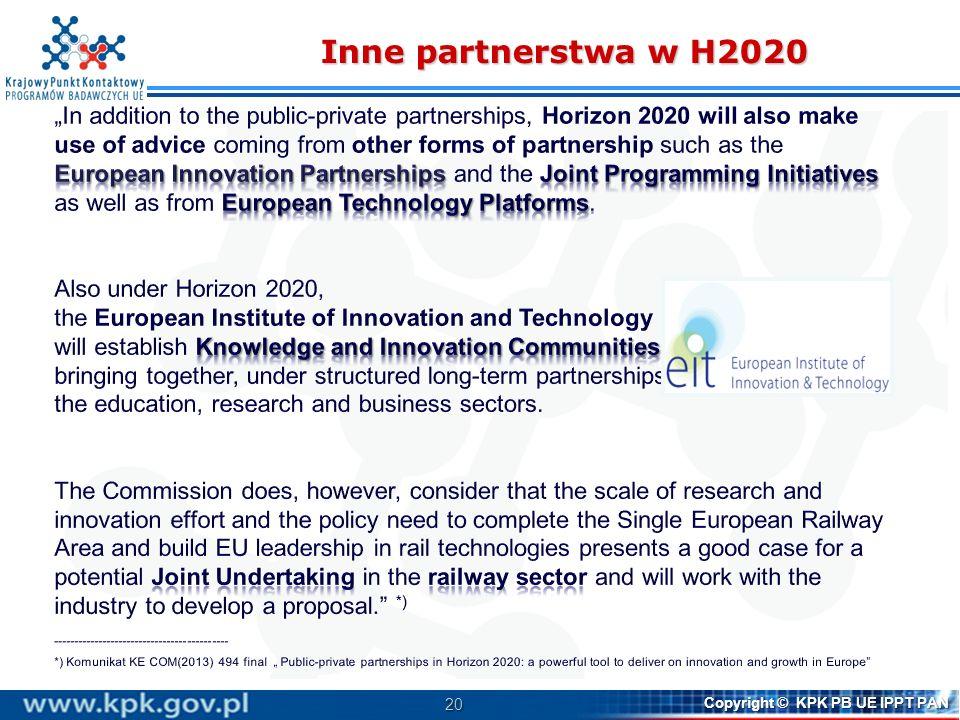 Inne partnerstwa w H2020