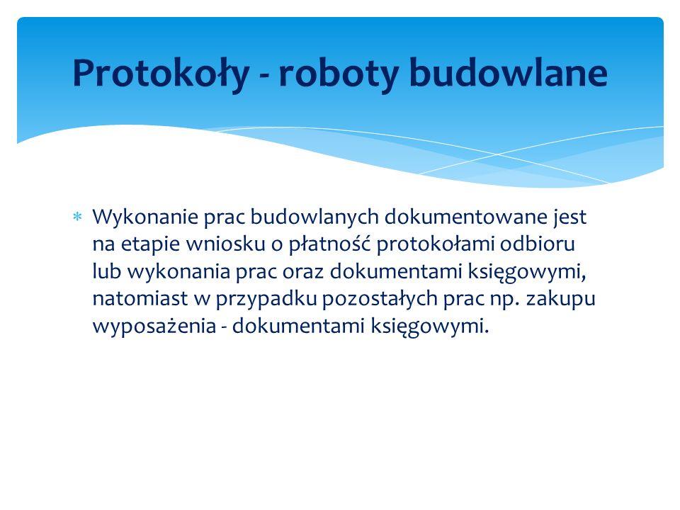 Protokoły - roboty budowlane