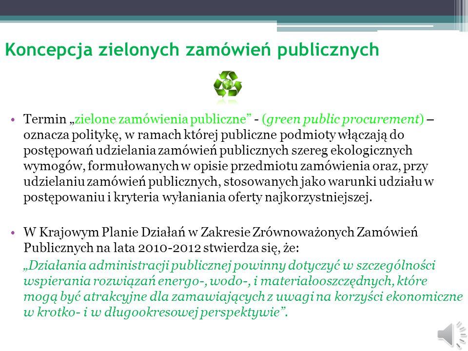 Koncepcja zielonych zamówień publicznych