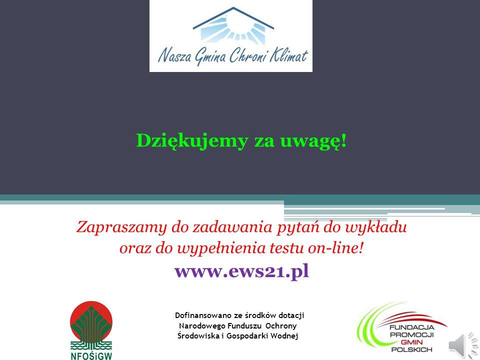 Dziękujemy za uwagę! www.ews21.pl