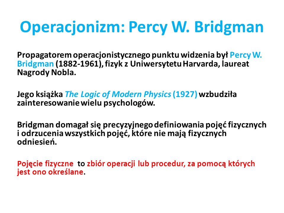 Operacjonizm: Percy W. Bridgman