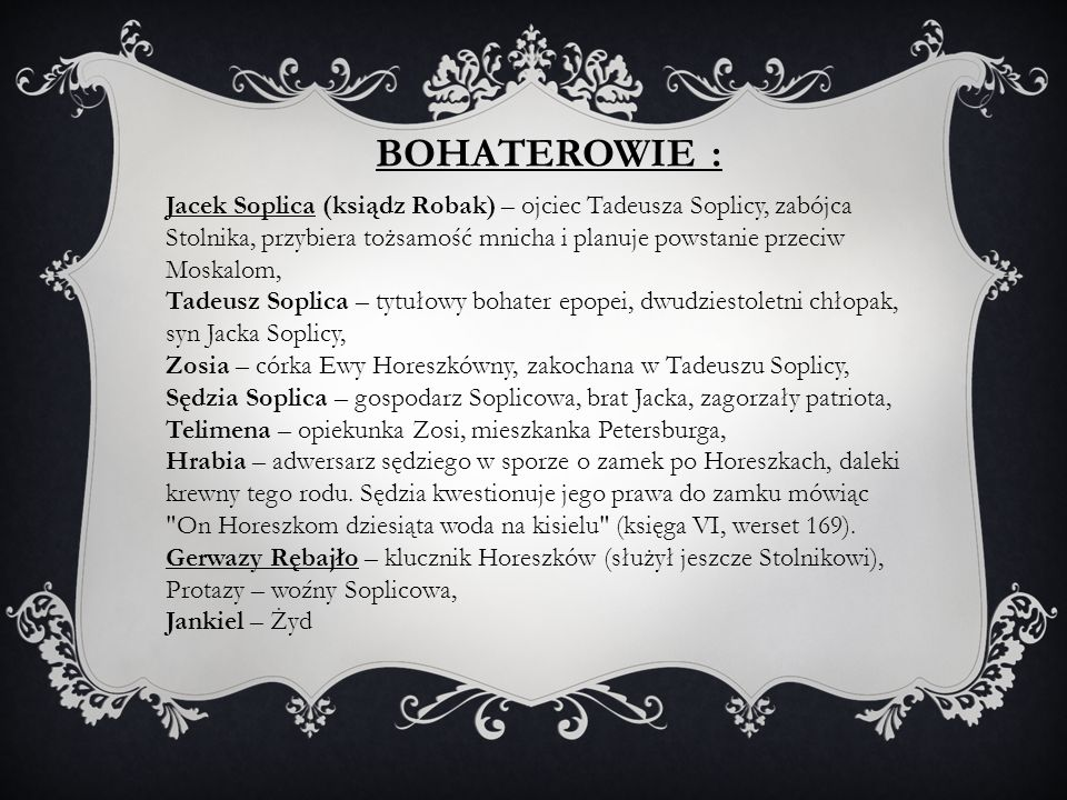 BOHATEROWIE :