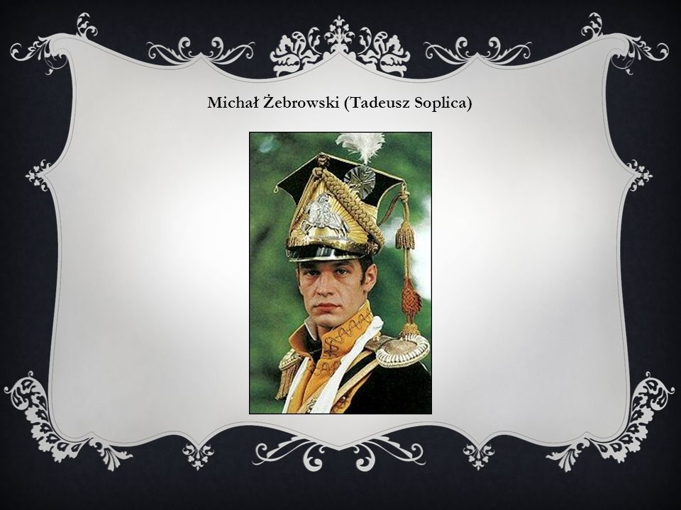 Michał Żebrowski (Tadeusz Soplica)
