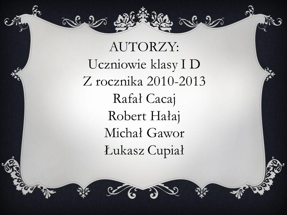 Z rocznika 2010-2013 Rafał Cacaj Robert Hałaj