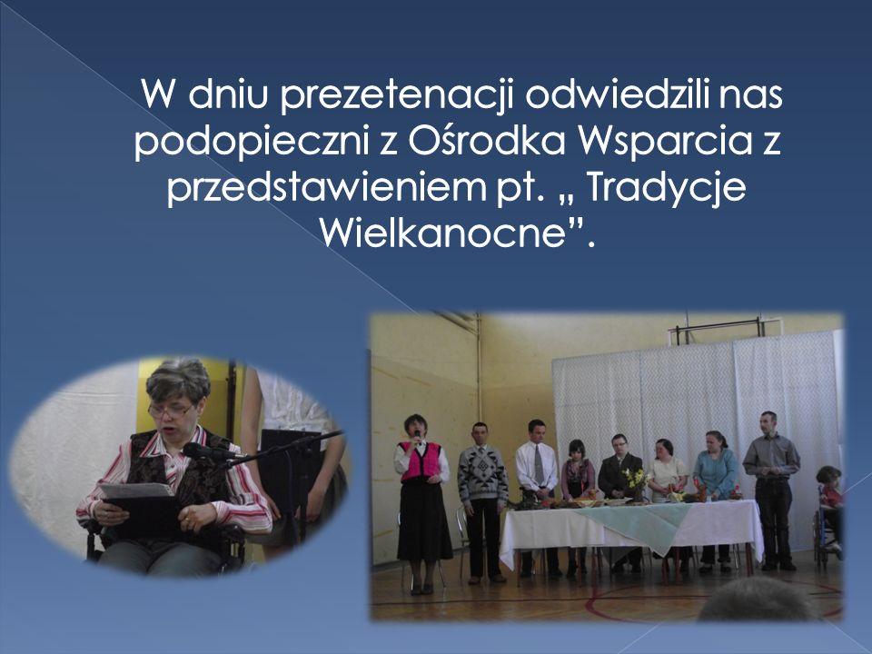 W dniu prezetenacji odwiedzili nas podopieczni z Ośrodka Wsparcia z przedstawieniem pt.