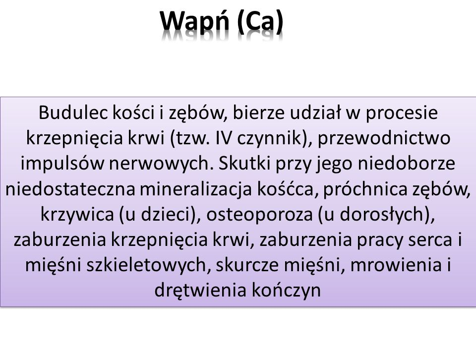 Wapń (Ca)