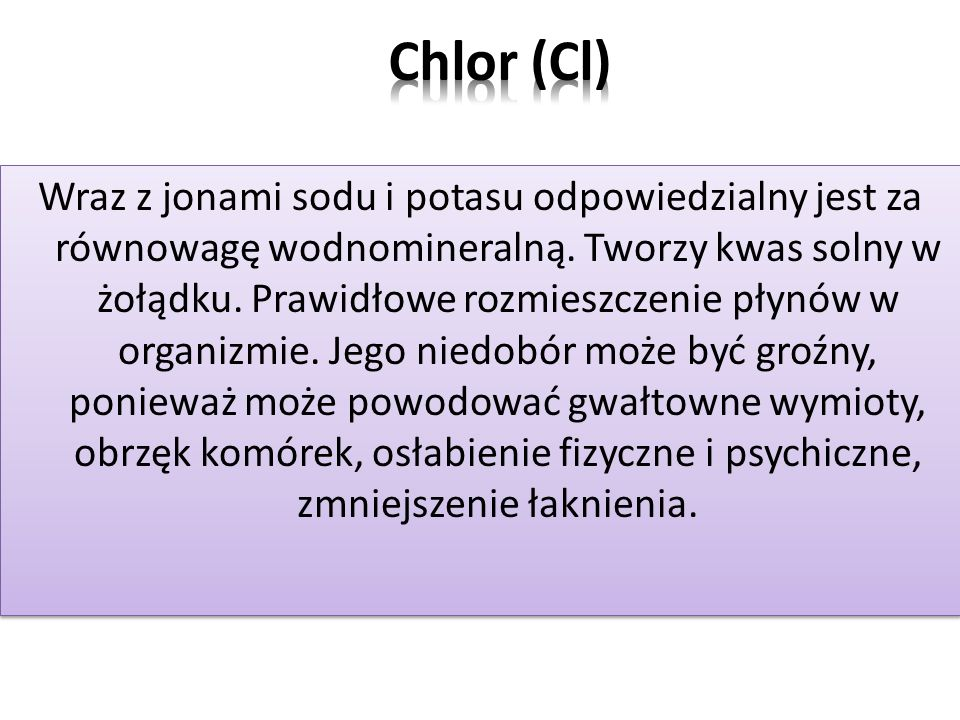 Chlor (Cl)