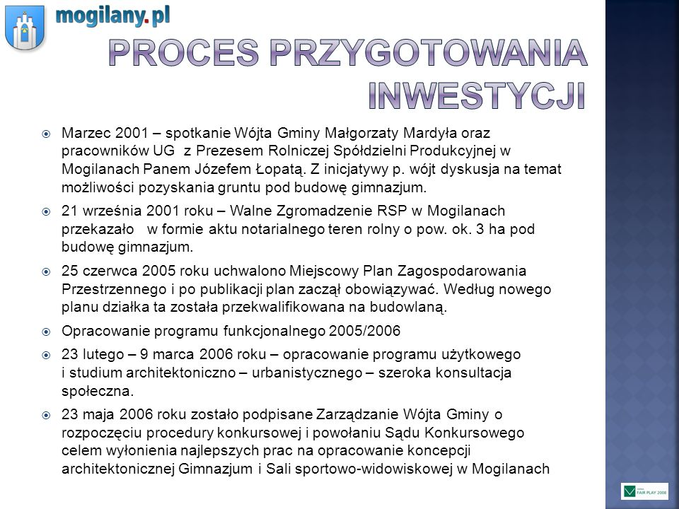 Proces przygotowania inwestycji