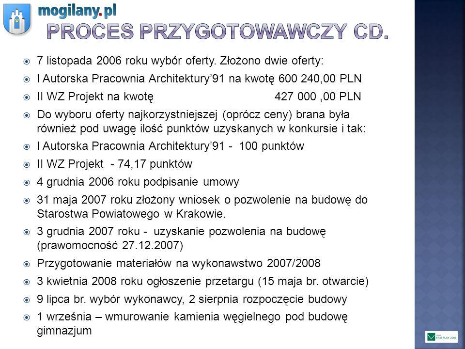 Proces przygotowawczy cd.
