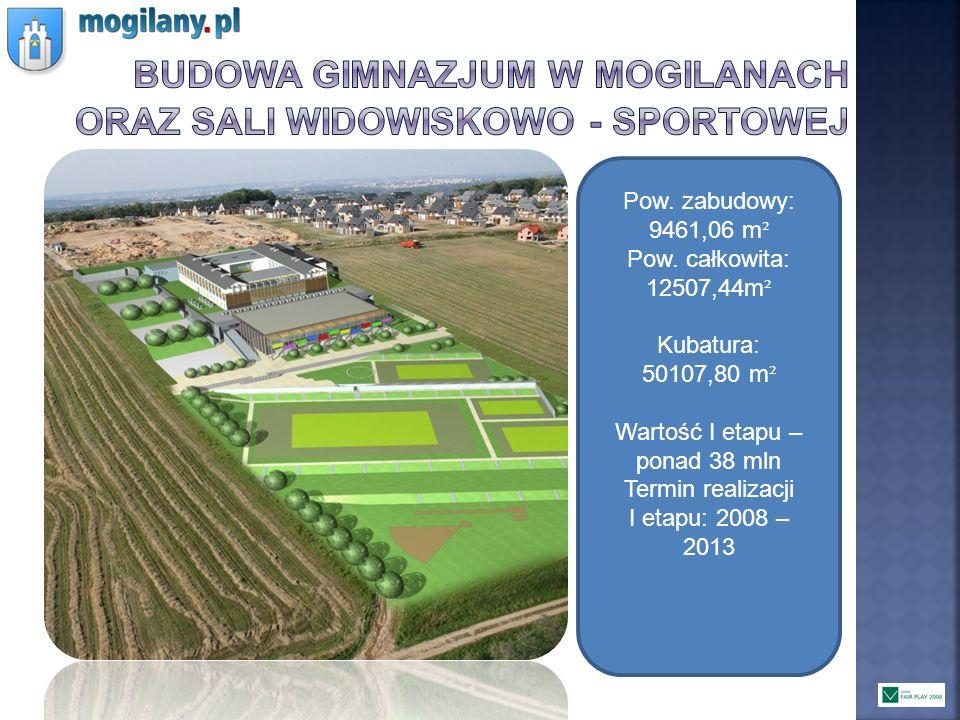 Budowa gimnazjum w mogilanach oraz Sali widowiskowo - sportowej