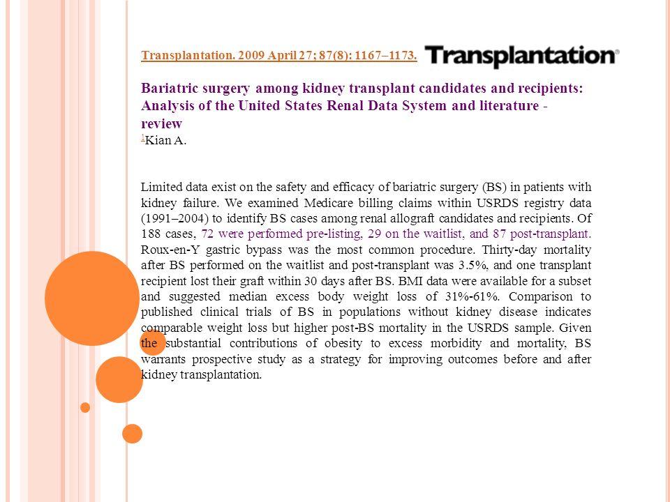 Transplantation. 2009 April 27; 87(8): 1167–1173.