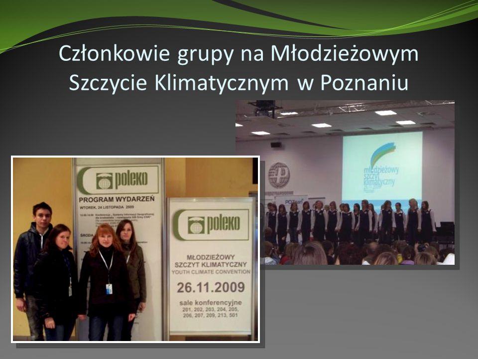 Członkowie grupy na Młodzieżowym Szczycie Klimatycznym w Poznaniu