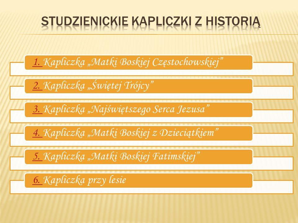 Studzienickie kapliczki z historią