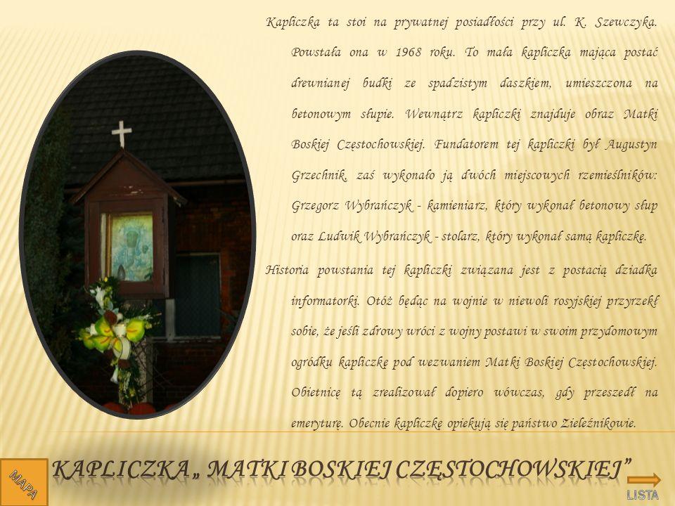 """Kapliczka """" Matki boskiej częstochowskiej"""