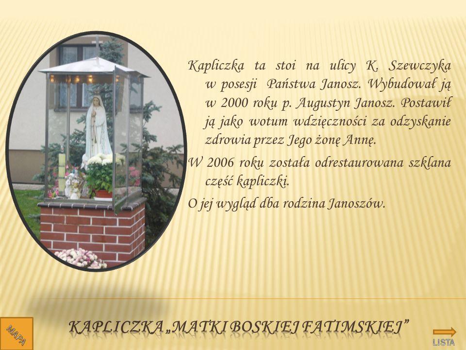 """Kapliczka """"Matki Boskiej fatimskiej"""