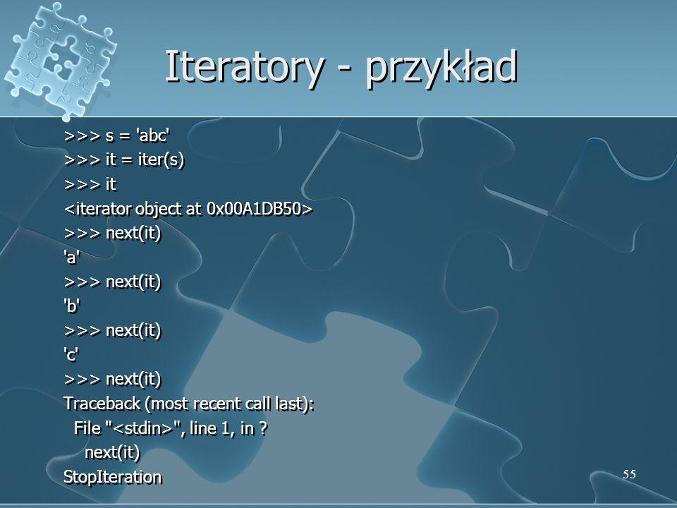 Iteratory - przykład