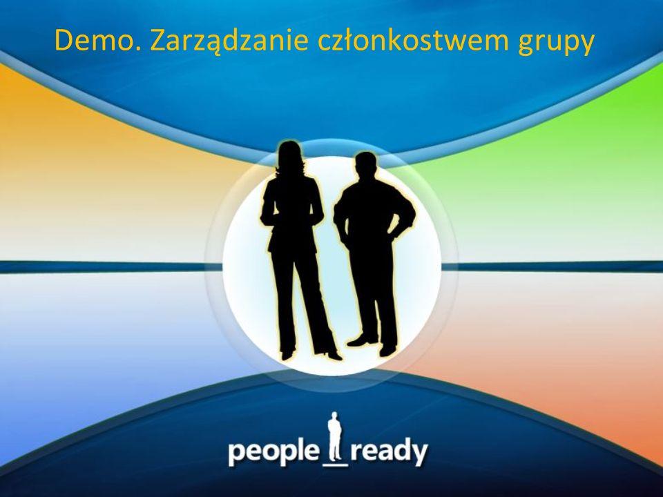 Demo. Zarządzanie członkostwem grupy
