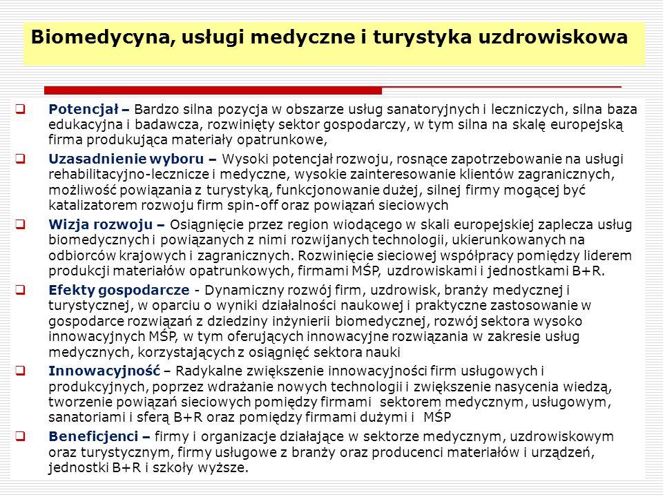 Biomedycyna, usługi medyczne i turystyka uzdrowiskowa