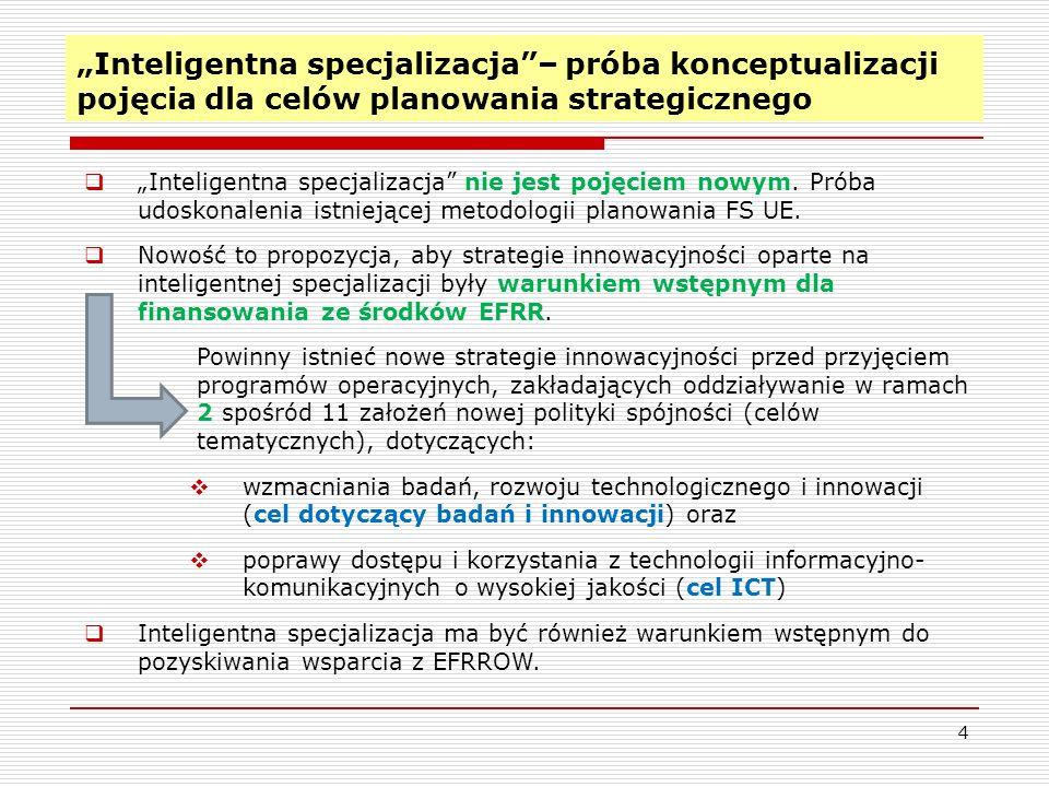 """""""Inteligentna specjalizacja – próba konceptualizacji pojęcia dla celów planowania strategicznego"""