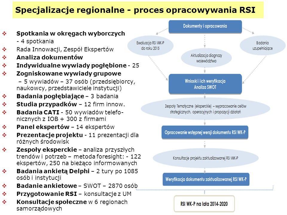 Specjalizacje regionalne - proces opracowywania RSI