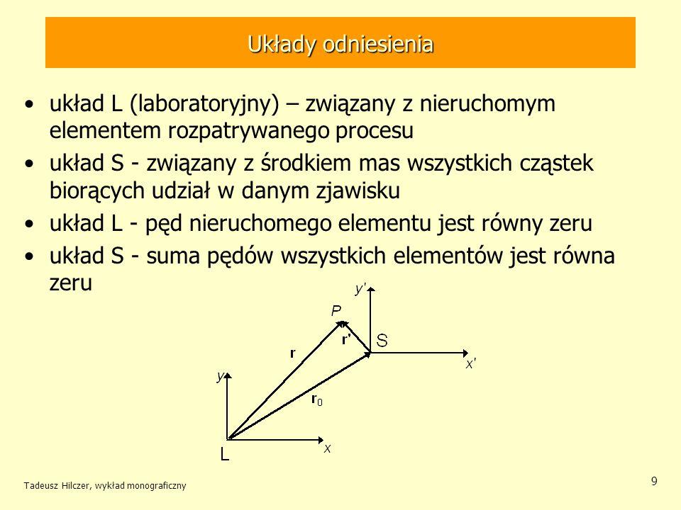 układ L - pęd nieruchomego elementu jest równy zeru