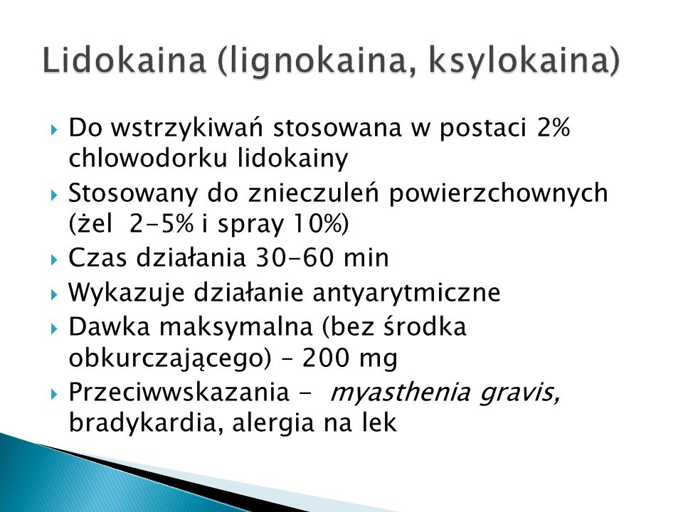 Lidokaina (lignokaina, ksylokaina)