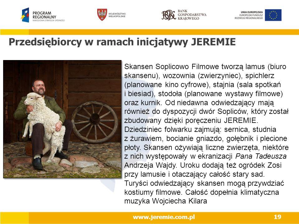 Przedsiębiorcy w ramach inicjatywy JEREMIE
