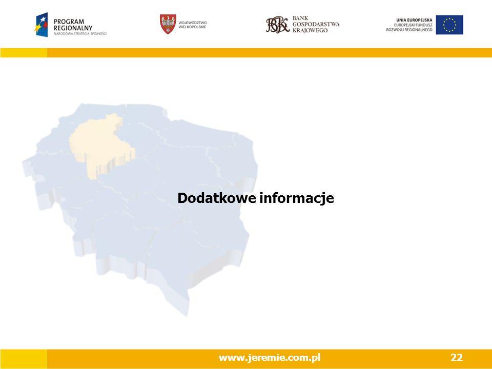 Dodatkowe informacje www.jeremie.com.pl