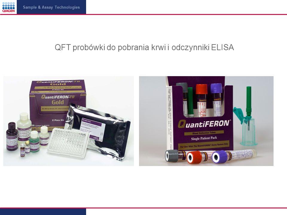 QFT probówki do pobrania krwi i odczynniki ELISA