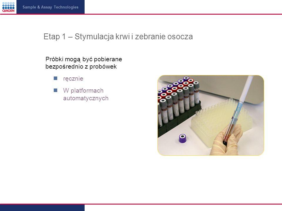Etap 1 – Stymulacja krwi i zebranie osocza