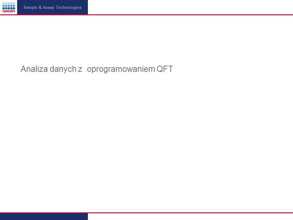 Analiza danych z oprogramowaniem QFT