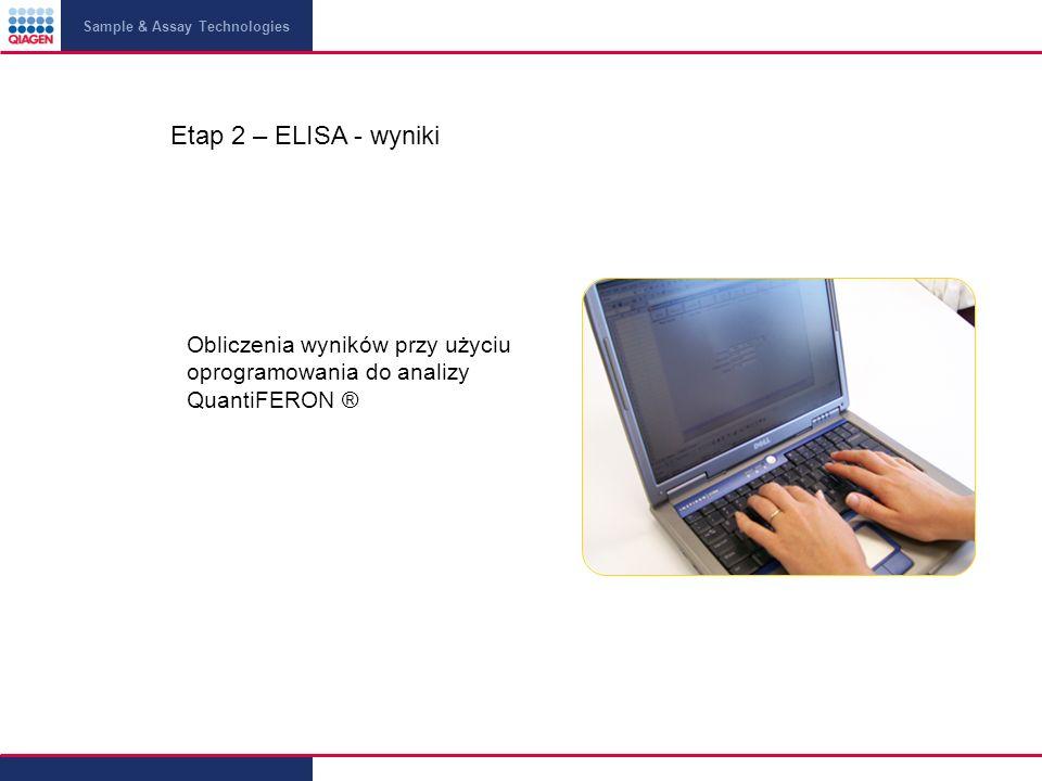 Etap 2 – ELISA - wyniki Obliczenia wyników przy użyciu oprogramowania do analizy QuantiFERON ®
