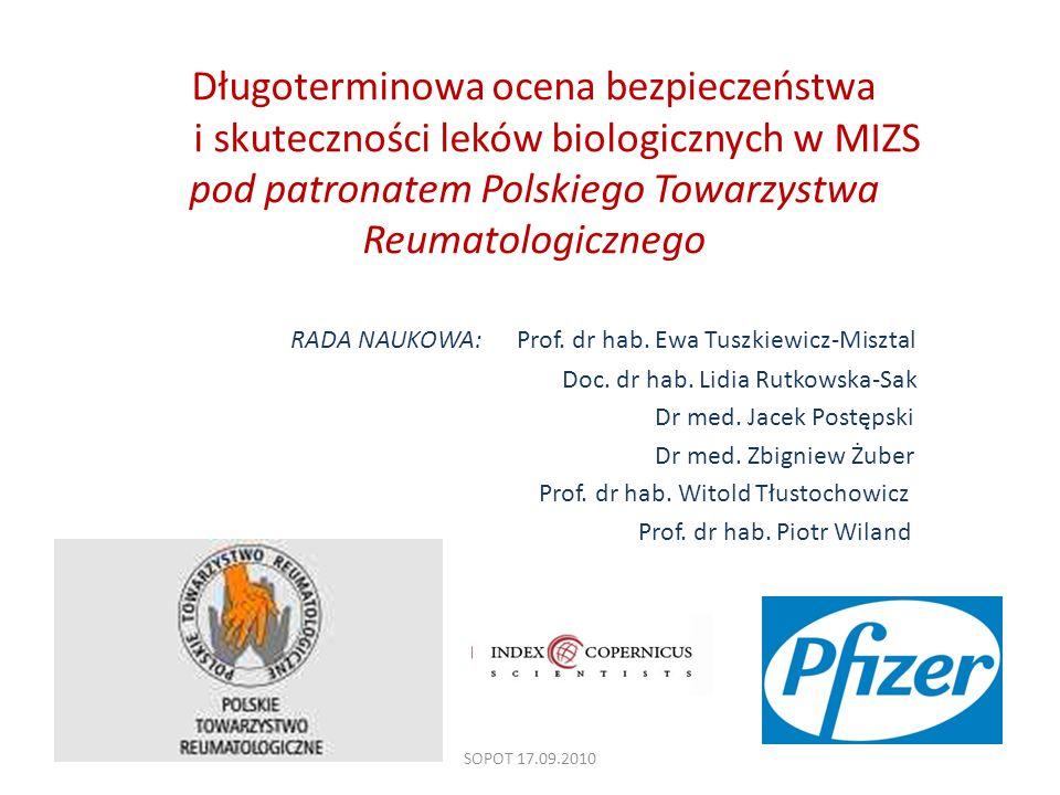 Długoterminowa ocena bezpieczeństwa i skuteczności leków biologicznych w MIZS pod patronatem Polskiego Towarzystwa Reumatologicznego