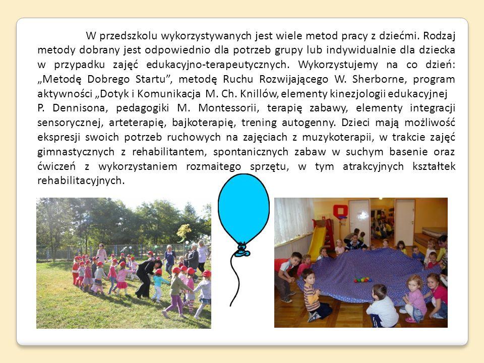 W przedszkolu wykorzystywanych jest wiele metod pracy z dziećmi
