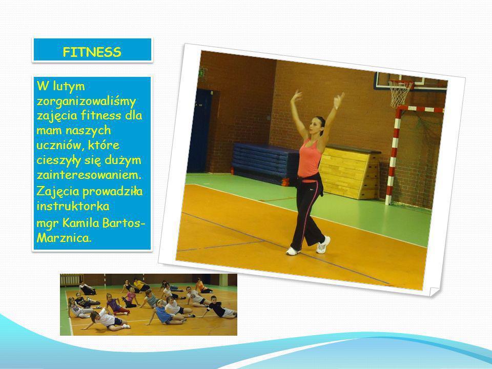 FITNESS W lutym zorganizowaliśmy zajęcia fitness dla mam naszych uczniów, które cieszyły się dużym zainteresowaniem.