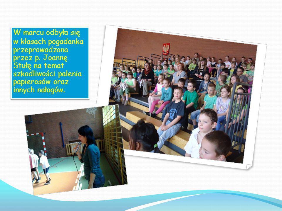 W marcu odbyła się w klasach pogadanka przeprowadzona przez p.
