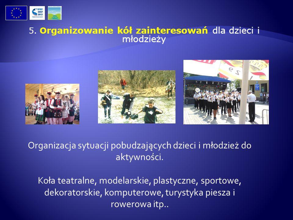 Organizacja sytuacji pobudzających dzieci i młodzież do aktywności.